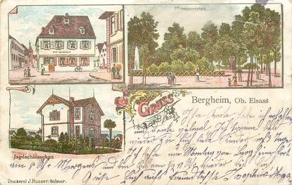 """CPA FRANCE 68 """"Bergheim"""" / GRUSS"""