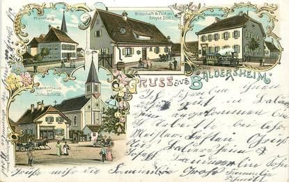 "CPA FRANCE 68 ""Baldersheim"" / GRUSS / CACHET AMBULANT AU VERSO"