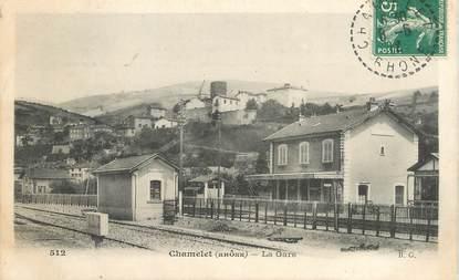 """CPA FRANCE 69 """"Chamelet, la gare"""""""