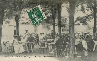 "CPA FRANCE 69 ""Ferme d'Albigny, Restaurateur MARRON"""