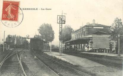 "CPA FRANCE 69 ""L'Arbresle, la gare"" / TRAIN"