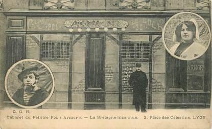 """CPA FRANCE 69 """"Lyon, Cabaret du peintre Pol Armor, Place des Célestins"""""""