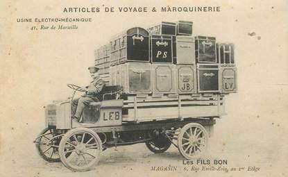 """CPA FRANCE 69 """"Lyon, Articles de voyage et maroquinerie, Les Fils Bon"""" / AUTOMOBILE"""