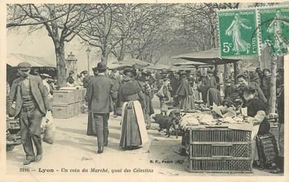 """CPA FRANCE 69 """"Lyon, un coin du Marché, quai des Célestins"""""""