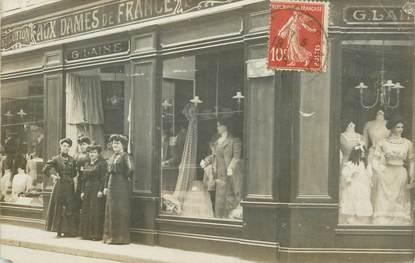 """CARTE PHOTO FRANCE 69 Lyon, Commerce vetements, Aux Dames de France"""""""""""