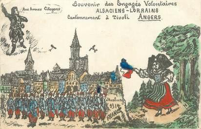 """CPA FRANCE 49 """"Angers, souvenir des engagés Volontaires"""""""