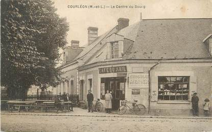 """CPA FRANCE 49 """"Courléon, le centre du Bourg"""""""