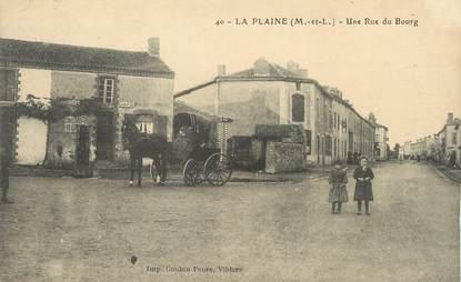 """CPA FRANCE 49 """"La Plaine, une rue du Bourg"""""""