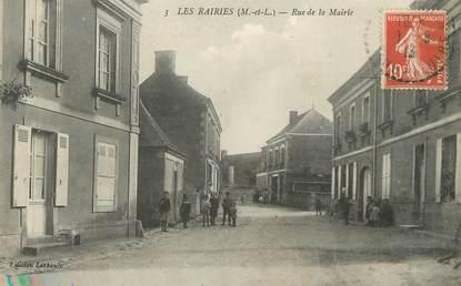 "CPA FRANCE 49 ""Les Rairies, rue de la mairie"""