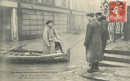 "CPA  FRANCE 94 ""Maison Alfort, inondations 1910"""