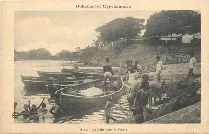 """CPA AFRIQUE DAHOMEY """"le bain dans le fleuve"""""""