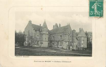 """CPA  FRANCE 60 """"Env. de Magny, Chateau d'Alincourt, Parnes"""""""