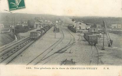 """CPA  FRANCE 92 """"Chaville Vélizy, vue générale de la gare"""" / TRAIN"""