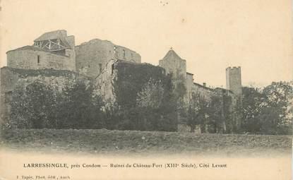 """CPA  FRANCE 32 """"Larressingle près Condom, les ruines du chateau fort"""""""