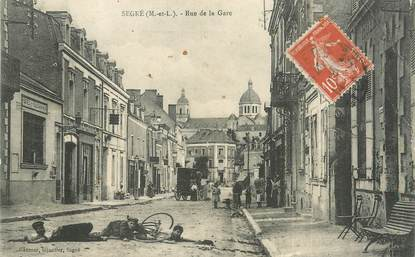 """/ CPA FRANCE 49 """"Segré, rue de la gare"""""""