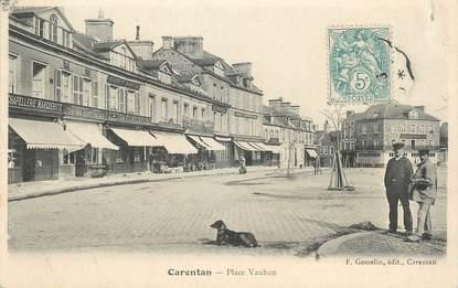 """/ CPA FRANCE 50 """"Carentan, place Vauban"""""""