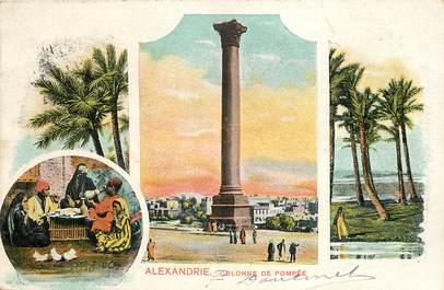 """CPA EGYPTE """"Alexandrie, la colonne de Pompée"""""""