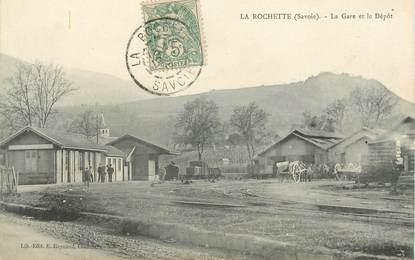 """CPA FRANCE 73 """"La Rochette, la gare et le dépôt"""""""