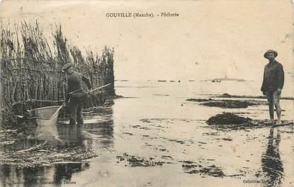 """/ CPA FRANCE 50 """"Gouville, pêcherie"""""""