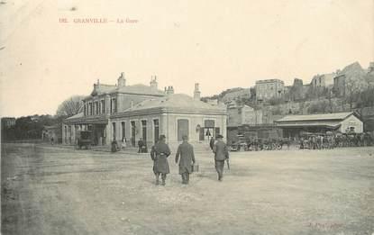 """/ CPA FRANCE 50 """"Granville, la gare"""""""