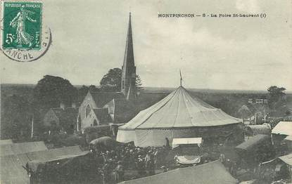"/ CPA FRANCE 50 ""Montpinchon, la foire Saint Laurent"""