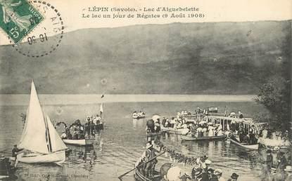 """CPA FRANCE 73 """"Lépin, lac d'Aiguebelette, un jour de régates, 1908"""""""