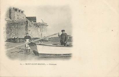 """/ CPA FRANCE 50 """"Mont Saint Michel, pêcheurs"""""""
