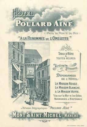 """/ CPA FRANCE 50 """"Mont Saint Michel? hôtel Poulard aîné"""""""