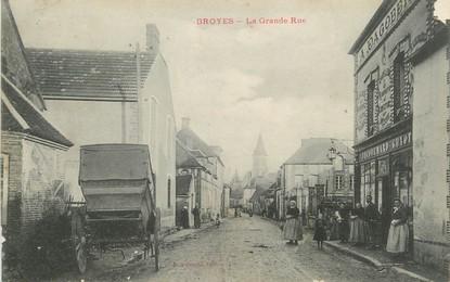 """/ CPA FRANCE 51 """"Broyes, la grande rue """""""