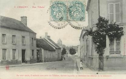 """/ CPA FRANCE 51 """"Crugny, rue Tillolet"""""""