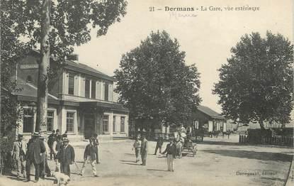"""/ CPA FRANCE 51 """"Dormans, la gare, vue extérieure"""""""