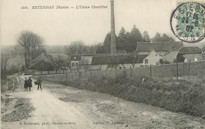 "/ CPA FRANCE 51 ""Esternay, l'usine Chauffier"""
