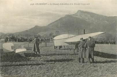 """CPA FRANCE 73 """"Chambéry, le champ d'aviation et le Nivolet"""""""