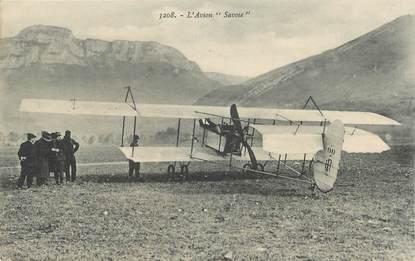 "CPA FRANCE 73 ""Chambéry, l'avion Savoie"""