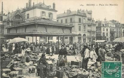 """/ CPA FRANCE 51 """"Reims,  place des marchés"""""""