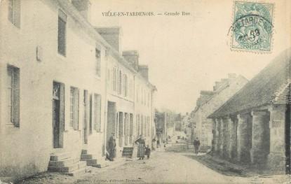 "/ CPA FRANCE 51 ""Ville en Tardenois, grande rue"""