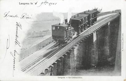 """/ CPA FRANCE 52 """" Langres, la Crémaillère"""" / TRAIN"""