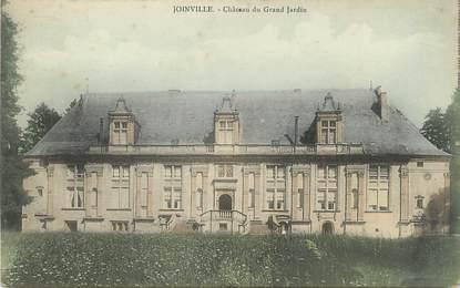 "/ CPA FRANCE 52 ""Joinville, château du Grand Jardin"""