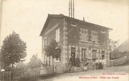 """/ CPA FRANCE 52 """"Montigny le Roi, hôtel des postes"""""""