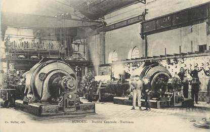 "/ CPA FRANCE 54 ""Auboué, station centrale, turbines"""
