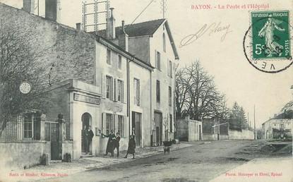 """/ CPA FRANCE 54 """"Bayon, la poste et l'hôpital"""""""