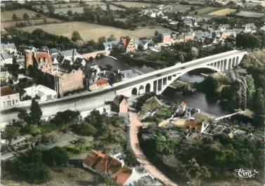"""/ CPSM FRANCE 72 """"Beaumont sur Sarthe, le nouveau viaduc et le donjon"""""""