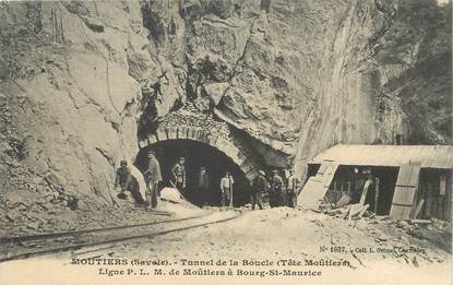 "CPA FRANCE 73 ""Moutiers, Tunnel de la Boucle"""