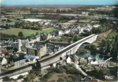 """/ CPSM FRANCE 72 """"Beaumont sur Sarthe, le vieux pont, le viaduc"""""""