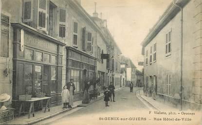 """CPA  FRANCE 73  """"Saint Genix sur Guiers, rue Hotel de ville"""""""