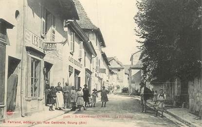 """CPA  FRANCE 73  """"Saint Genix sur Guiers, le Faubourg, Restaurant Tabac"""""""