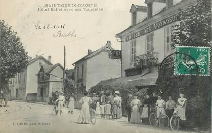 """CPA  FRANCE 73  """"Saint Genix d'Aoste, Hotel des voyageurs"""""""