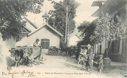 """CPA  FRANCE 73  """"Route de Chambéry à Leysse et Saint Jean d'Arvey"""""""