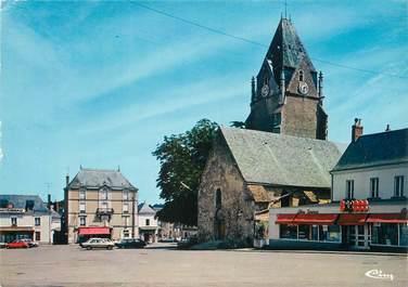 """/ CPSM FRANCE 72 """"Connerre, l'église et la place"""""""