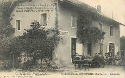 "CPA  FRANCE 73 ""Saint Alban de Montbel, Café restaurant, Pr. M. DUPORT"""